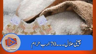 Photo of چینی حلال ۔۔۔ 70 ارب حرام