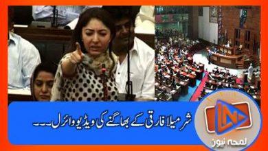 Photo of سندھ اسمبلی میں جھگڑے کے وقت شرمیلا فاروقی کے دوڑنے کی ویڈیو وائرل