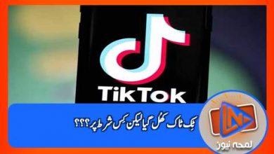 Photo of پشاور ہائیکورٹ نے ٹک ٹاک کھولنے کی اجازت دے دی ۔۔۔ کیا چیزیقینی بنانے کی ہدایت