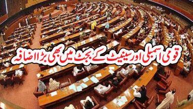 Photo of قومی اسمبلی اور سینیٹ کے بجٹ میں بھی بڑا اضافہ