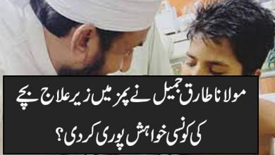 Photo of مولانا طارق جمیل نے پمز میں زیر علاج بچے کی کونسی خواہش پوری کر دی؟