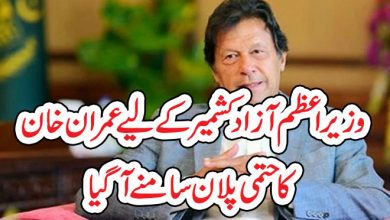 Photo of وزیر اعظم آزاد کشمیر کے لیے عمران خان کا حتمی پلان سامنے آگیا