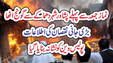 Photo of نماز جمعہ سے پہلے پشاور شہر دھماکے سے گونج اٹھا، بڑی جانی نقصان کی اطلاعات، پولیس وین کو نشانہ بنایاگیا