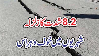 Photo of 8.2شدت کا زلزلہ،شہریوں میں خوف وہراس