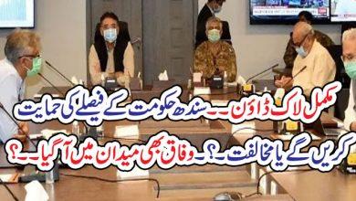 Photo of مکمل لاک ڈاؤن۔۔ سندھ حکومت کے فیصلے کی حمایت کریں گے یا مخالفت ۔؟۔ وفاق بھی میدان میں آگیا۔۔؟