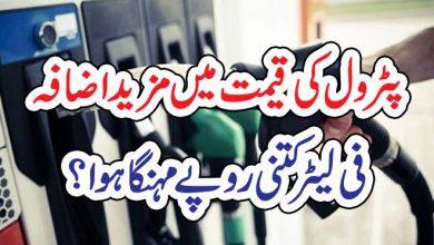 Photo of پٹرول کی قیمت میں مزید اضافہ فی لیٹر کتنی روپے مہنگا ہوا ؟