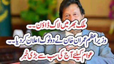 Photo of ملک بھر میں لاک ڈاؤن۔۔وزیراعظم عمران خان نے دو ٹوک اعلان کردیا۔۔ عوام کیلئے آج کی سب سے بڑی خبر