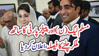 Photo of مسلم لیگ (ن)اور پیپلزپارٹی کا ساتھ  ملکر چلنے کا فیصلہ،اعلان کر دیا