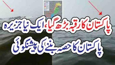 Photo of پاکستان کا رقبہ بڑھ گیا، ایک نیا جزیرہ  پاکستان کا حصہ بننے کی پیشنگوئی