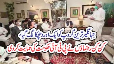 Photo of جہانگیر ترین گروپ کو ایک اور دھچکا لگ گیا، کن کن رہنما ئوں نے پی ٹی آئی حکومت کی حمایت کر دی