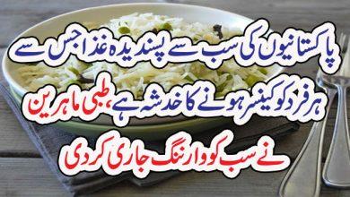 Photo of پاکستانیوںکی سب سے پسندیدہ غذاجس سےہرفردکو کینسر ہونے کاخدشہ ہے،طبی ماہرین نے سب کووارننگ جاری کردی
