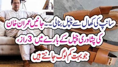 Photo of سانپ کی کھال سے چپل بنالی ۔۔ جانیں عمران خان کی پشاوری چپل کے بارے میں 3 راز، جو بہت کم لوگ جانتے ہیں