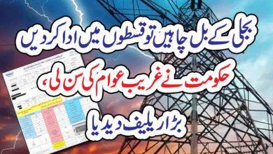 Photo of بجلی کے بل چاہیں تو قسطوں میں ادا کردیں ، حکومت نے غریب عوام کی سن لی ، بڑا ریلیف دیدیا