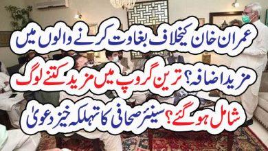 Photo of عمران خان کیخلاف بغاوت کرنے والوں میںمزید اضافہ ؟ ترین گروپ میں مزید کتنے لوگ شامل ہو گئے ؟سینئر صحافی کا تہلکہ خیز دعویٰ