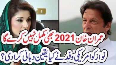 Photo of عمران خان 2021بھی مکمل نہیں کرے گا، مریم نواز کو امریکی وفد نے کیا یقین دہانی کرا دی؟