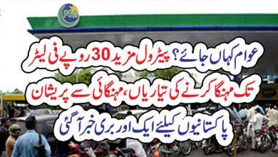Photo of عوام کہاںجائے ؟پیٹرول مزید 30روپے فی لیٹرتک مہنگا کرنے کی تیاریاں، مہنگائی سے پریشان پاکستانیوںکیلئے ایک اور بری خبر آگئی